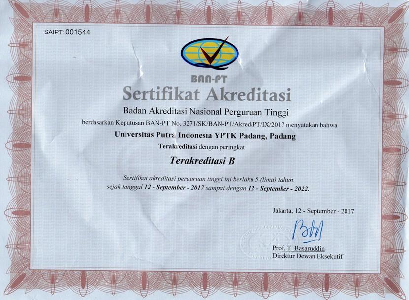 Sertifikat Akreditasi Fakultas Desain Komunikasi Visual